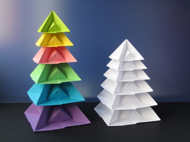Origami foto Albero di Natale di piramidi - Christmas Tree of Pyramids by Francesco Guarnieri