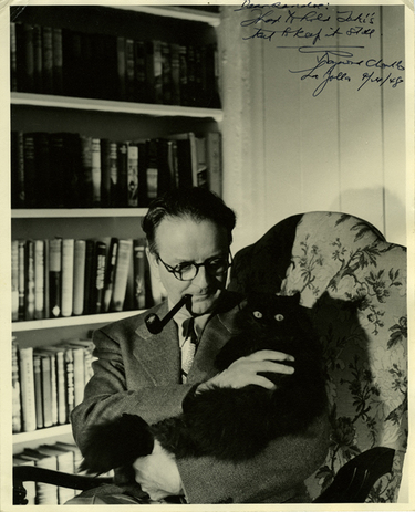 Raymond Chandler and a cat