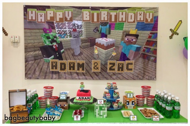 Adam and Zac'ss Birthday Party - free 3D cube minecraft invite!