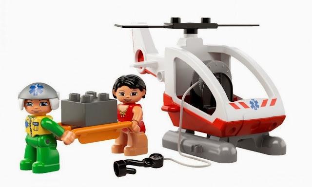 Lego Duplo 5794 Trực thăng cấp cứu - phi công và cô gái bê cáng