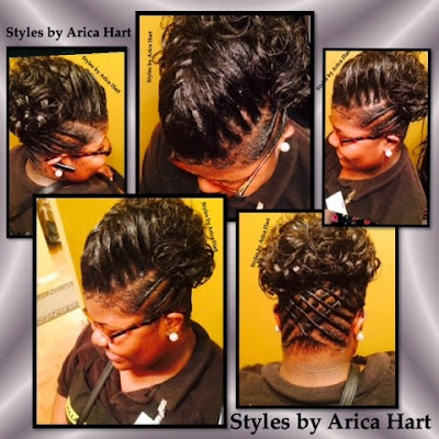 Twist, Updo hair styles, lifted braid hair styles, Aiken SC hair salon, hair stylist - Arica Hart