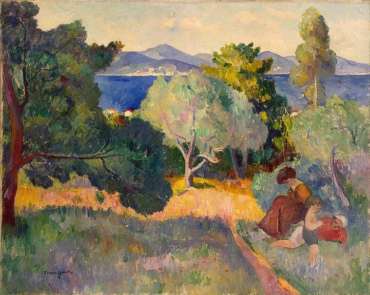 Henri-Charles Manguin - Walk in St Tropez, 1905