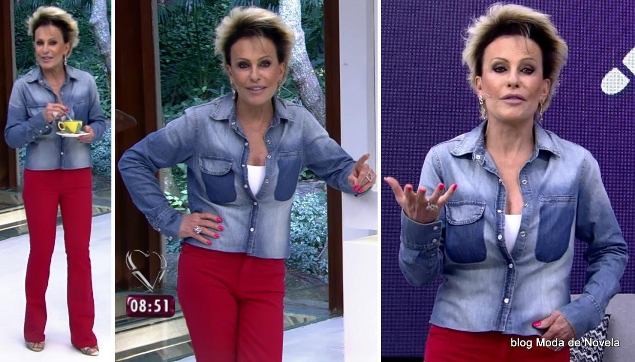 moda do programa Mais Você - look da Ana Maria Braga dia 7 de maio