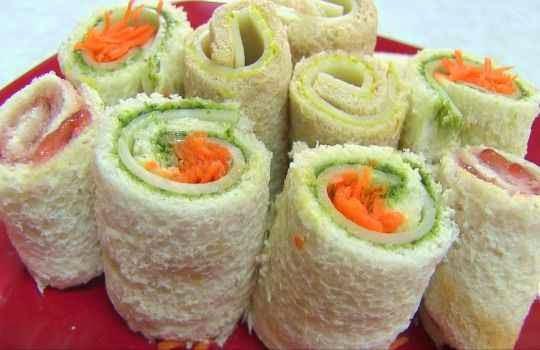 Sandwiches para fiestas de niños