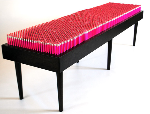 Pink Pencil Bench by Boex