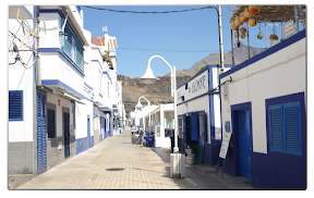 Straße in Puerto de las Nieves in Agaete