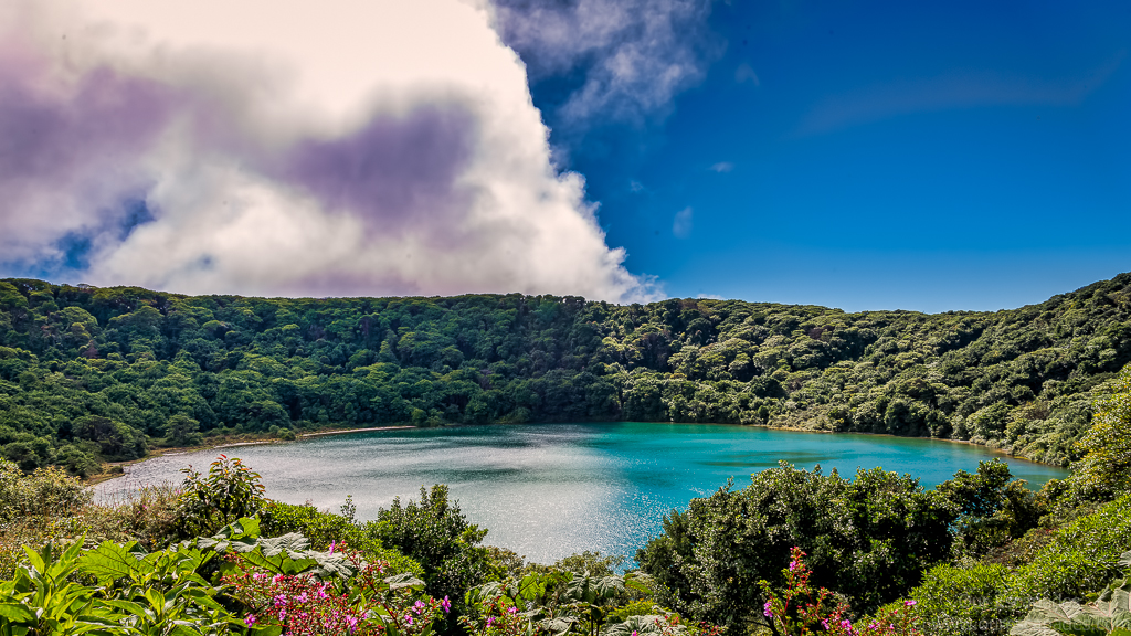 Beautiful Botos Lake (Actually, a crater filled with rain water)