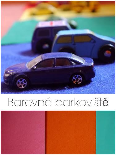 Barevné parkoviště - Učíme se barvy