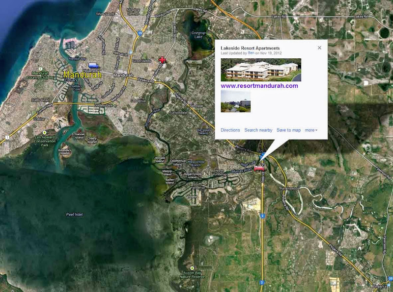 Map of Mandurah Accommodation