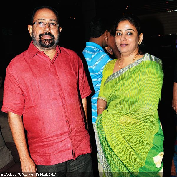 Sibi Malayil and Bala during Vinu Mohan, Vidya's wedding reception held in Kerala.