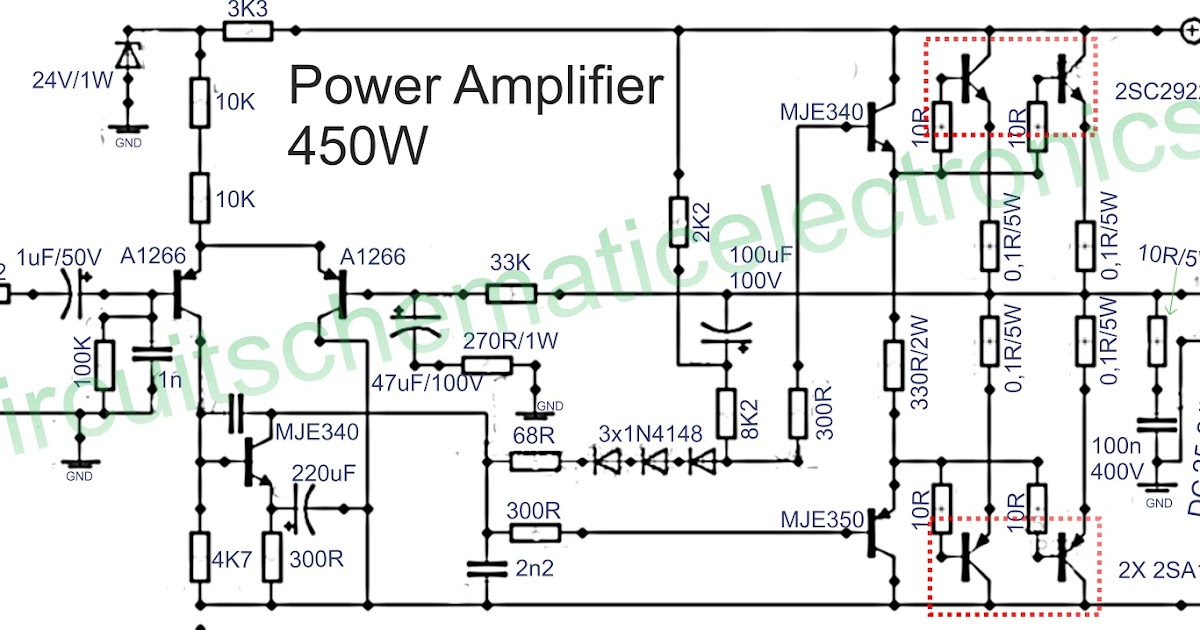 power amplifier 450w with sanken subwoofer bass amplifier rh subwooferbass amplifiercircuit blogspot com Simple Amplifier Schematics Simple Amplifier Schematics
