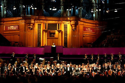 Sir Colin Davis and the Gustav Mahler Jugendorchester at the Proms at Royal Albert Hall in London England