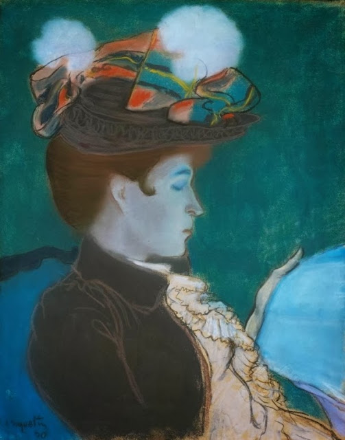 Louis Anquetin - Girl Reading a Newspaper