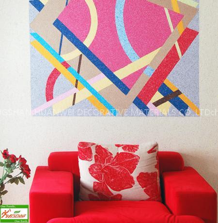 Dekoracyjny YISENNI tapeta płynna zwany także jako tynk bawełniany albo tapeta płynna