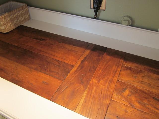 scrap flooring countertop