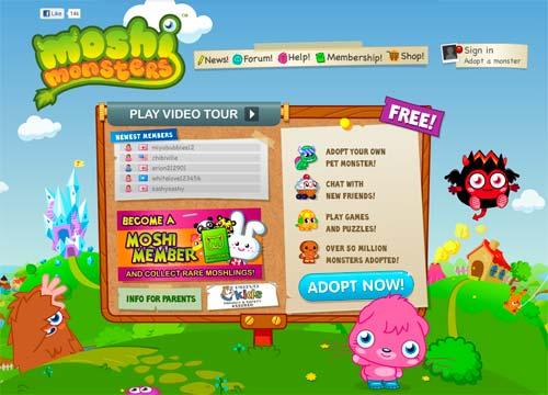 Crea Tu Propia Mascota Virtual Con El Juego De Moshimonsters Cofre