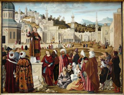La Prédication de saint Etienne à Jérusalem de Carpaccio