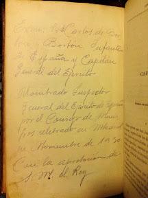 Proclamación de Carlos de Borbón y Borbón Inspector general del ejército de España. Mi abuelo tenía entonces 17 años