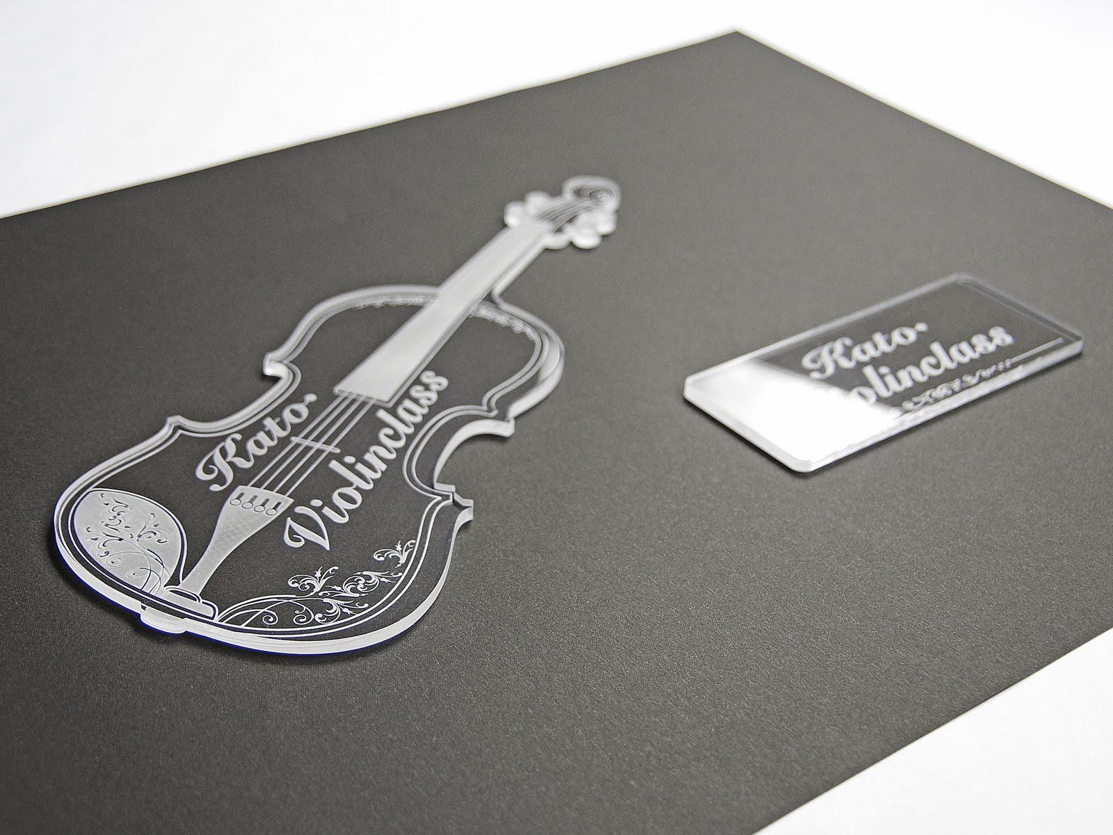 バイオリンサインプレート-レーザー加工