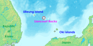 Lioncourt Rocks: Other names: Dokdo, Takeshima, Tok Islets