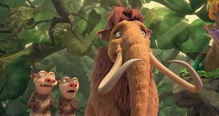 Screen Shot Of Hollywood Movie Ice Age 2: The Meltdown (2006) In Hindi English Full Movie Free Download And Watch Online at Alldownloads4u.Com