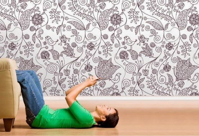 Tendencia papel pintado for Papeles pintados modernos pared