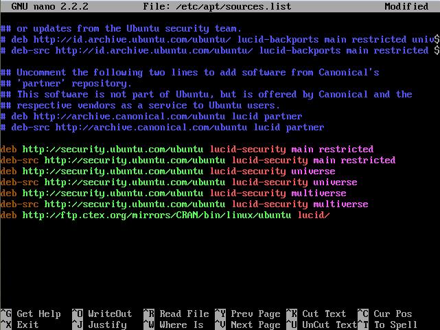 install r software ubuntu 10.04 Lucid Lynx