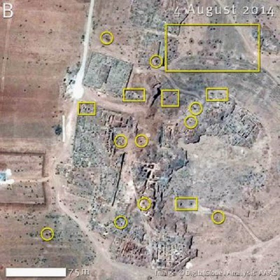 Near East: Satellite images reveal plight of six Syrian sites