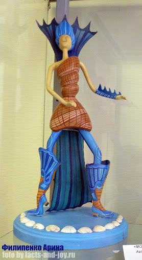 Филипенко Арина, выставка авторских кукол ателье чудем - морская муза
