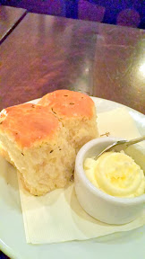 Brasserie Montmartre warm rolls and butter with salt