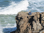 Man fishing at Point Lobos.