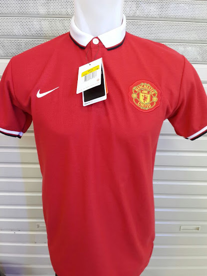 Jual Polo Manchester United Merah  2014-2015