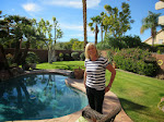 Mary at her awesome Palm Desert house