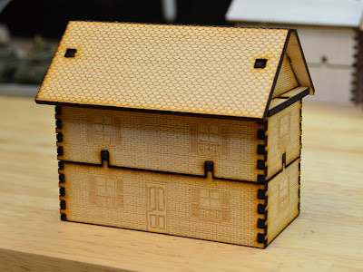 Laser Cut Wargame Terrain House