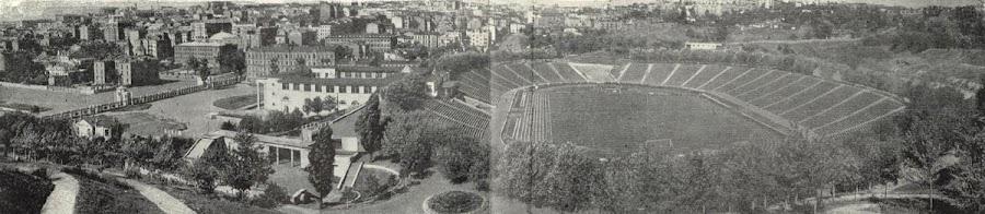 Фотографии старого Киева на карте. Панорама НСК Олимпийский (стадион имени Хрущева, 1957 год)