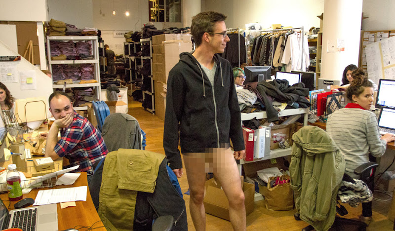 Bottomless at the Betabrand Office