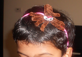 Pipe cleaner Spider headband