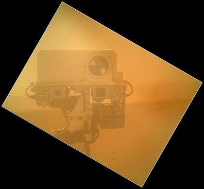 NASA MSL, Curiosity Rover Takes Self Portrait