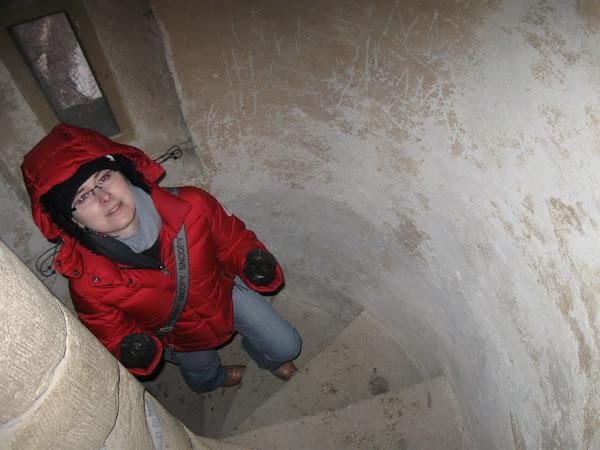 Zamek Grodziec - schody na ganek