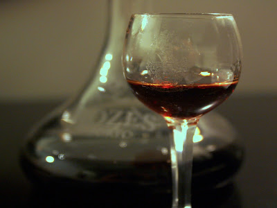 Glass of Port wine