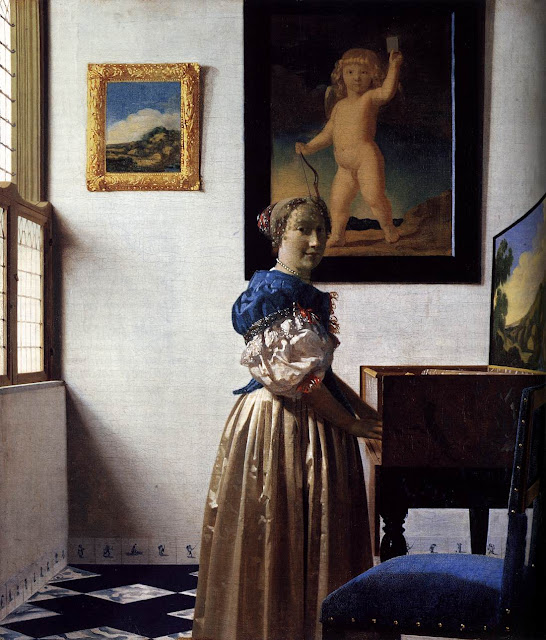 Johannes Vermeer - Lady Standing at a Virginal.
