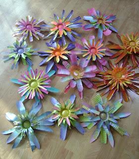 kwiaty z puszek