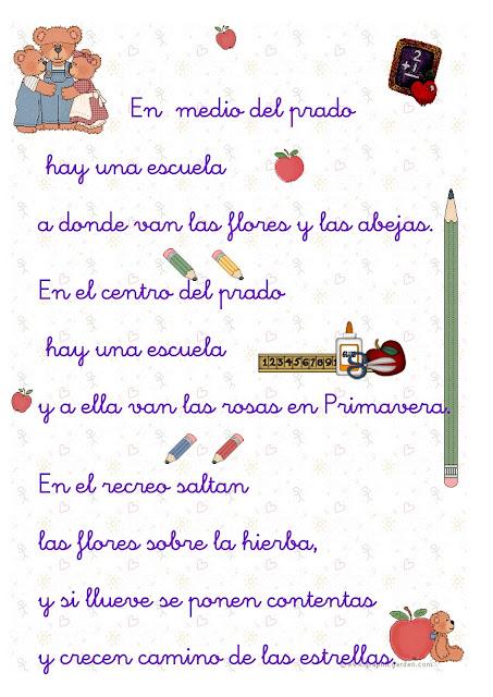 Poesía por aniversario de colegio - Imagui