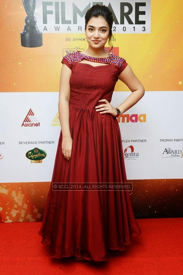 Nazriya Nazim during the 61st Idea Filmfare Awards South, held at Jawaharlal Nehru Stadium in Chennai, on July 12, 2014.