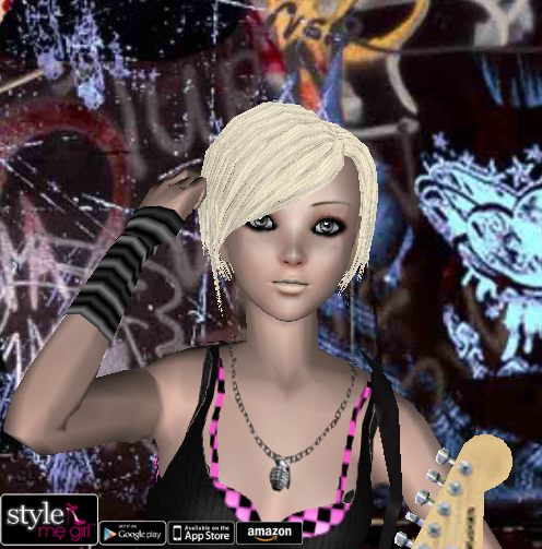 Style Me Girl Level 23 - Kimberly - Emo - Close Up