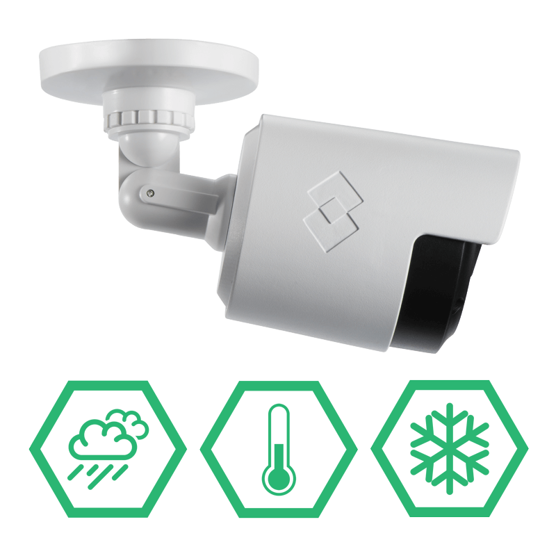 IP66 weatherproof security cameras for year-long security coverage