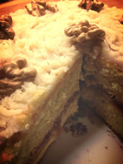 French Village Diaries Coffee and Walnut Fat Free sponge cake birthday recipe