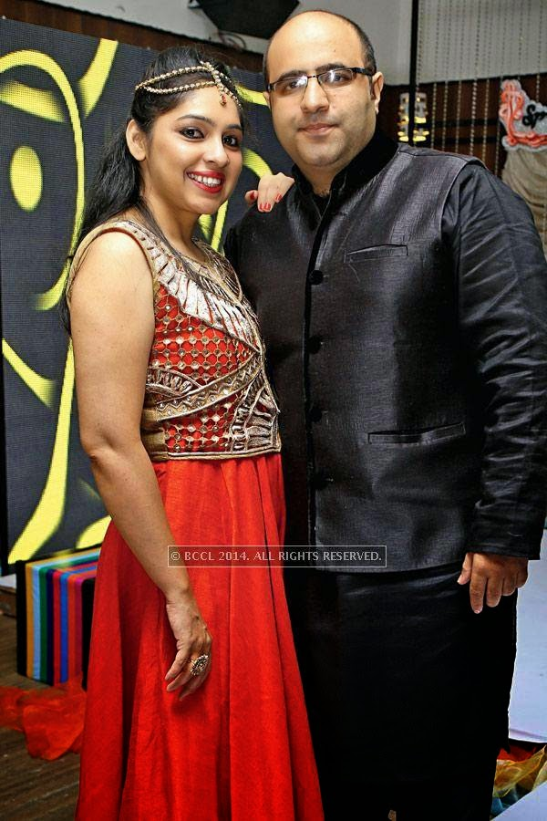 Pooja and Sameer during a party, held at a lounge, in Indore.