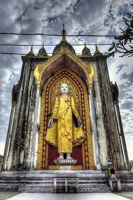 The Buddha Still Standing Burma Image