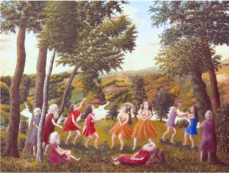 André Bauchant - Greek Dance in a Landscape, 1937